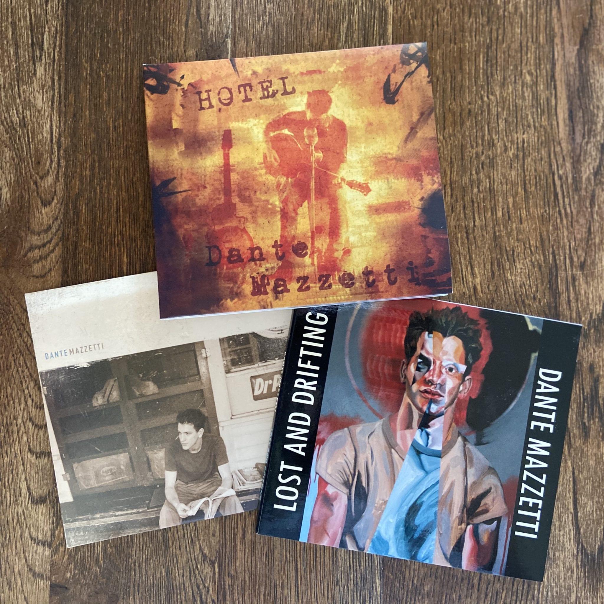 3 Dante Mazzetti Albums including Hotel, Lost and Drifting, and Dante Mazzetti